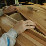 Fitting cedar strips