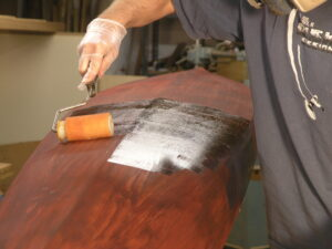 protecting stain on a strip built kayak